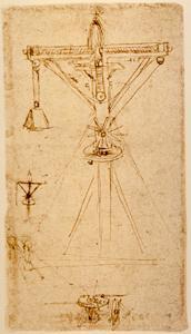 Leonardo Da Vinci Revolving Crane With Hoistleonardo And