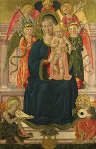 Madonna col Bambino e angeli, National Gallery, London.