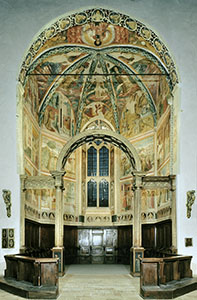 Chapel of the Choir, Church of St. Francis, Montefalco.