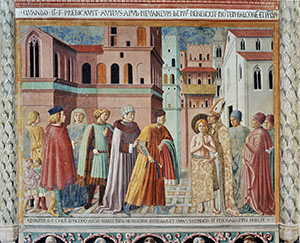 The Renunciation of Worldly Goods, Church of St Francis, Montefalco.