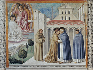 The Meeting of Saint Francis and Saint Dominic, Church of St. Francis, Montefalco.