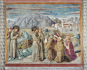 Preaching to the Birds and the Blessing of Montefalco, Church of St. Francis, Montefalco.