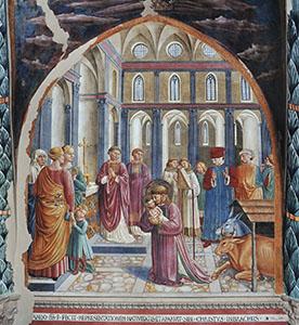 Il presepe di Greccio, chiesa di San Francesco, Montefalco.