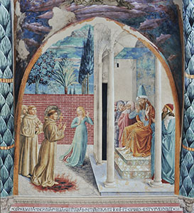The Conversion of Sultan Melek-el-Kamel, Church of St. Francis, Montefalco.