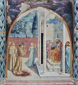 The Conversion of Sultan Melek-el-Kamel, Church of St. Francis, Montefalco.