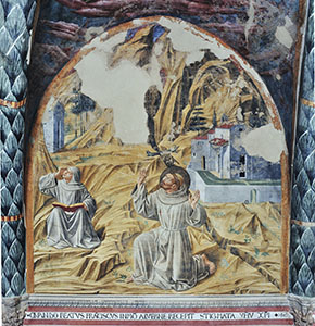 Stigmatisation of the Saint, Church of St. Francis, Montefalco.