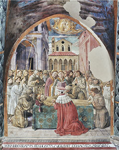 The Death and Assumption to Heaven of Saint Francis, Church of St. Francis, Montefalco.