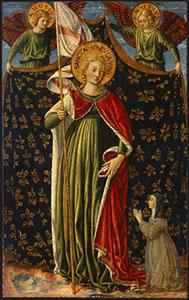 Sant'Orsola, due angeli reggicortina e la donatrice, National Gallery of Art, Washington.