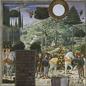 The Procession of the Magi, back wall, Florence.