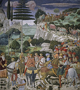 The Procession of the Magi, left-hand wall, Florence.
