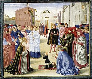 San Zanobi resuscita un bambino, predella della pala Alessandri, Metropolitan Museum of Art, New York.