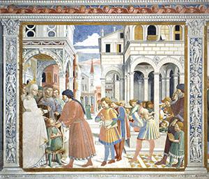 Saint Augustine Starts School in Thagaste, Church of St. Augustine, San Gimignano.