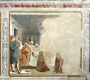 Agostino ammesso all'università di Cartagine, chiesa di Sant'Agostino, San Gimignano.