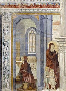 Prayer of Saint Monica, Church of St. Augustine, San Gimignano.