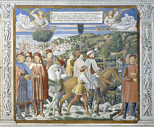 Saint Augustine Departing from Rome for Milan, Church of St. Augustine, San Gimignano.