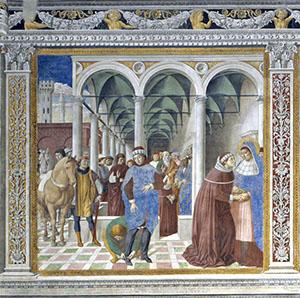 Saint Augustine Arrives in Milan, Church of St. Augustine, San Gimignano.