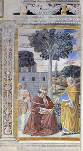 Saint Augustine Reads the Epistle of St. Paul to the Romans and is Converted, Church of St. Augustine, San Gimignano.
