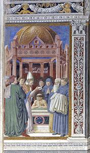 The Baptism of Saint Augustine, Church of St. Augustine, San Gimignano.