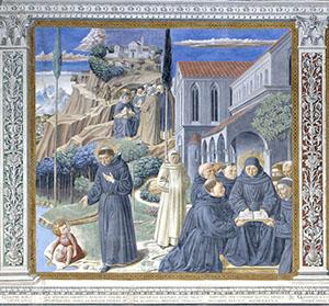 Alcune leggende riguardanti Agostino, chiesa di Sant'Agostino, San Gimignano.