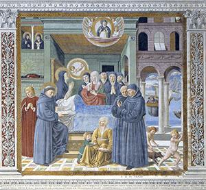 Death of Saint Monica, Church of St. Augustine, San Gimignano.