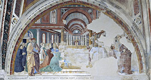 Saint Augustine, Appointed Bishop, Blesses the People of Hippo, Church of St. Augustine, San Gimignano.