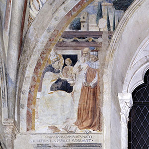 Dispute with the Heretic Fortunatus, Church of St. Augustine, San Gimignano.