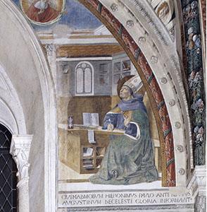 Saint Augustine's Vision of Saint Jerome, Church of St. Augustine, San Gimignano.