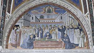 I funerali di Agostino, chiesa di Sant'Agostino, San Gimignano.