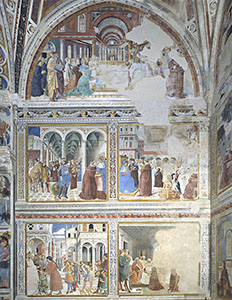 Scenes from the life of Saint Augustine, Chapel of the Choir, Church of St. Augustine, San Gimignano.