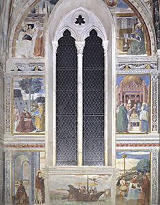 Scene della vita di sant'Agostino, Cappella del Coro, chiesa di Sant'Agostino, San Gimignano.