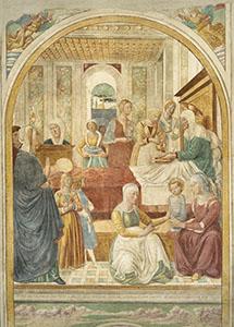 Nativit� della Vergine, tabernacolo della Visitazione, Museo Benozzo Gozzoli, Castelfiorentino.