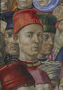 Self-portrait by Benozzo Gozzoli, Chapel of the Magi, Florence.