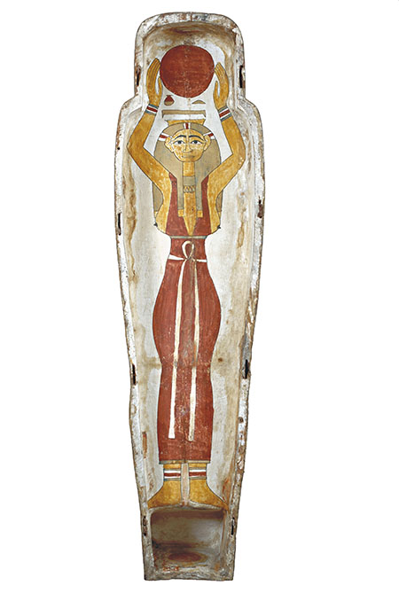 Sarcophagus lid portraying the goddess Nut