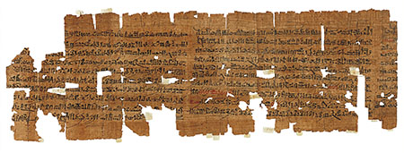 Fragmentary roll of magical-cum-religious papyrus