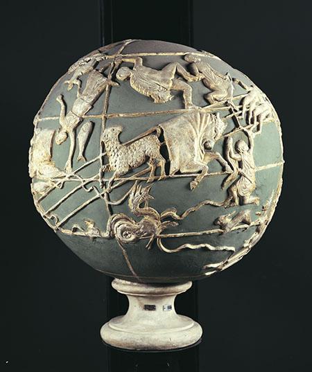 Cast of the Farnese Atlas globe