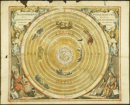 Andreas Cellarius, Atlas coelestis seu Harmonia Macrocosmica - pl. 2