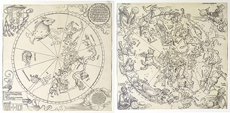 Albrecht Dürer, Maps of the northern and southern skies