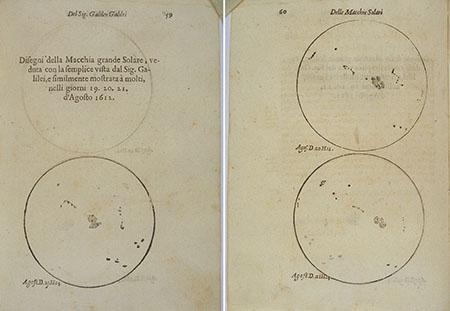 Galileo Galilei, Istoria e dimostrazioni intorno alle macchie solari