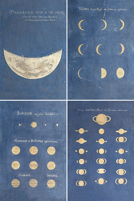 Maria Clara Eimmart, Phase of the Moon, Phases of Venus, Aspect of Jupiter, Aspect of Saturn