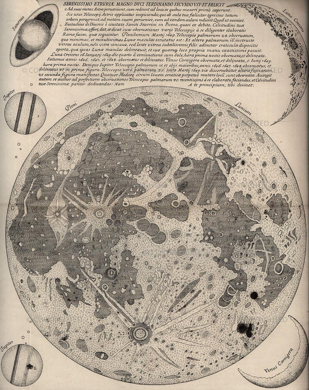 Eustachio Divini, Carta della Luna