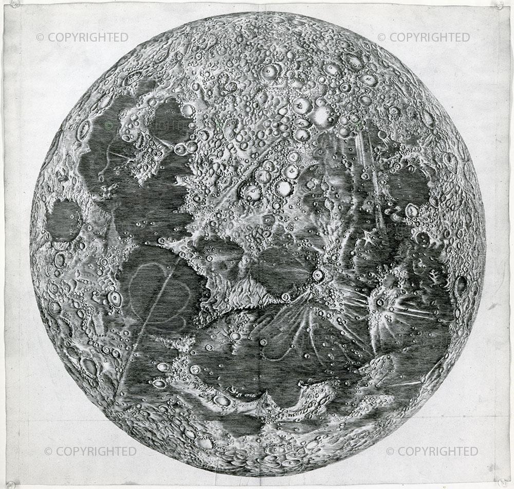 Giandomenico Cassini, Large map of the Moon