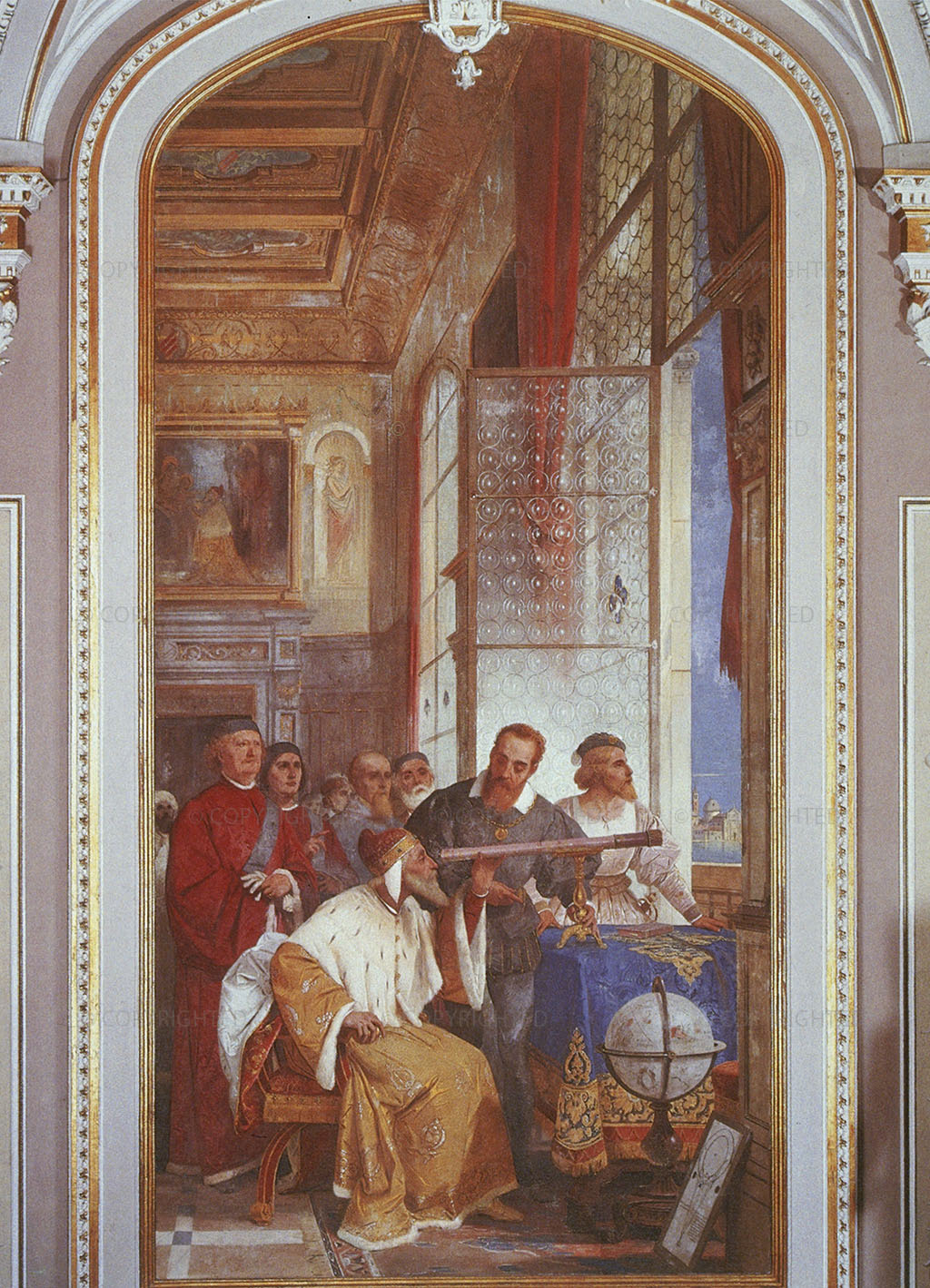 1858, Fresco, cm 491 x 238, Biumo di Varese, Villa Ponti, Hall of Honor