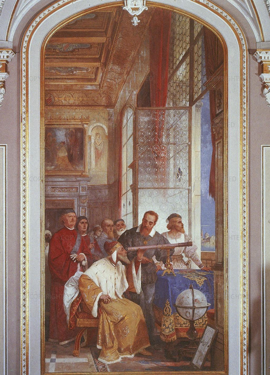 1858, Fresco, cm 491 x 238, Biumo di Varese, Villa Ponti, Hall of Honor