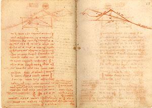 Codice di Madrid II, 32v-33r. - Calcoli e costi dei lavori alla fortezza e alle colline di Piombino, c. 1504.