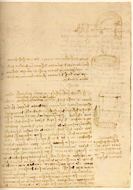 Codice di Madrid II, 88v. - Il porto di Piombino, c. 1504.