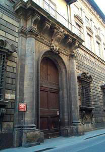 Palazzo Nonfinito, entrance to the Florence Natural History Museum - Anthropological Section.