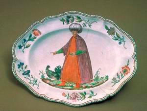 Vassoio ovale, Museo Richard-Ginori della Manifattura di Doccia, Sesto Fiorentino.