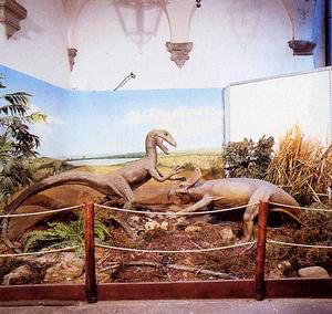 Il diorama sui dinosauri, Museo Civico Paleontologico, Empoli.
