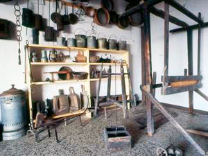 Collections of the Museum of Rural Life of Montecastelli Pisano, Castelnuovo di Val di Cecina.