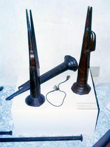 Trombe da cava, Museo del Lavoro e delle Tradizioni Popolari della Versilia Storica, Seravezza.